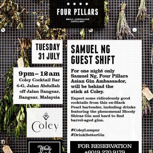 Samuel Ng/Four Pillars @ Coley